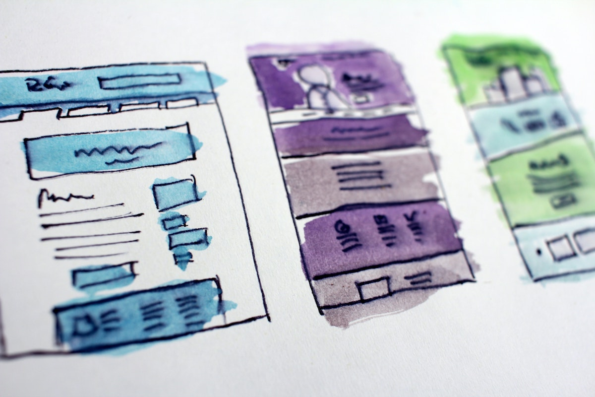 Web design sketches