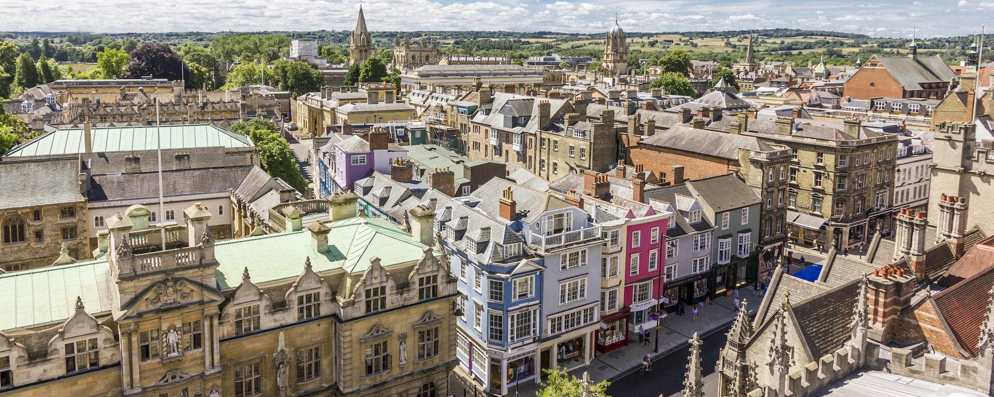 Oxford buildings aerial