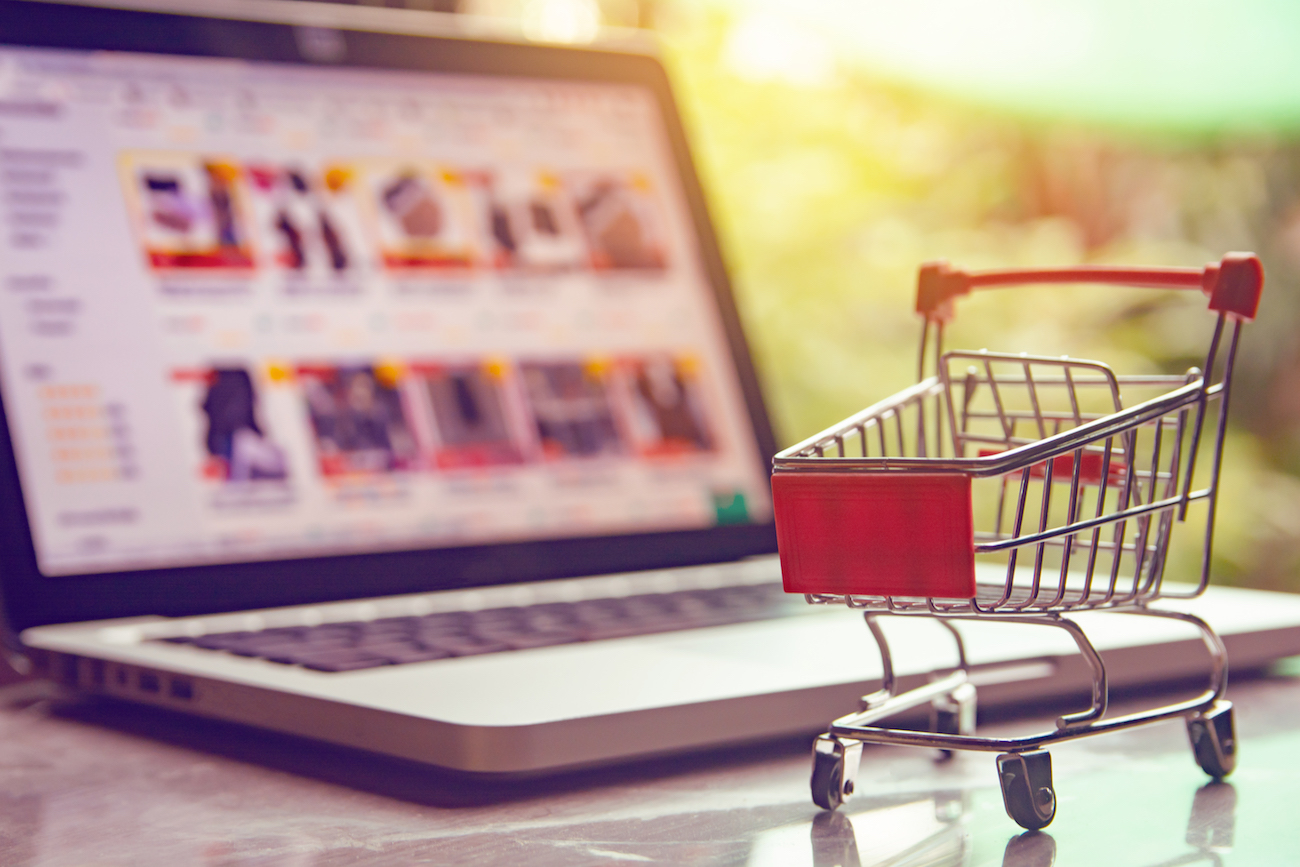 Shopping cart by computer
