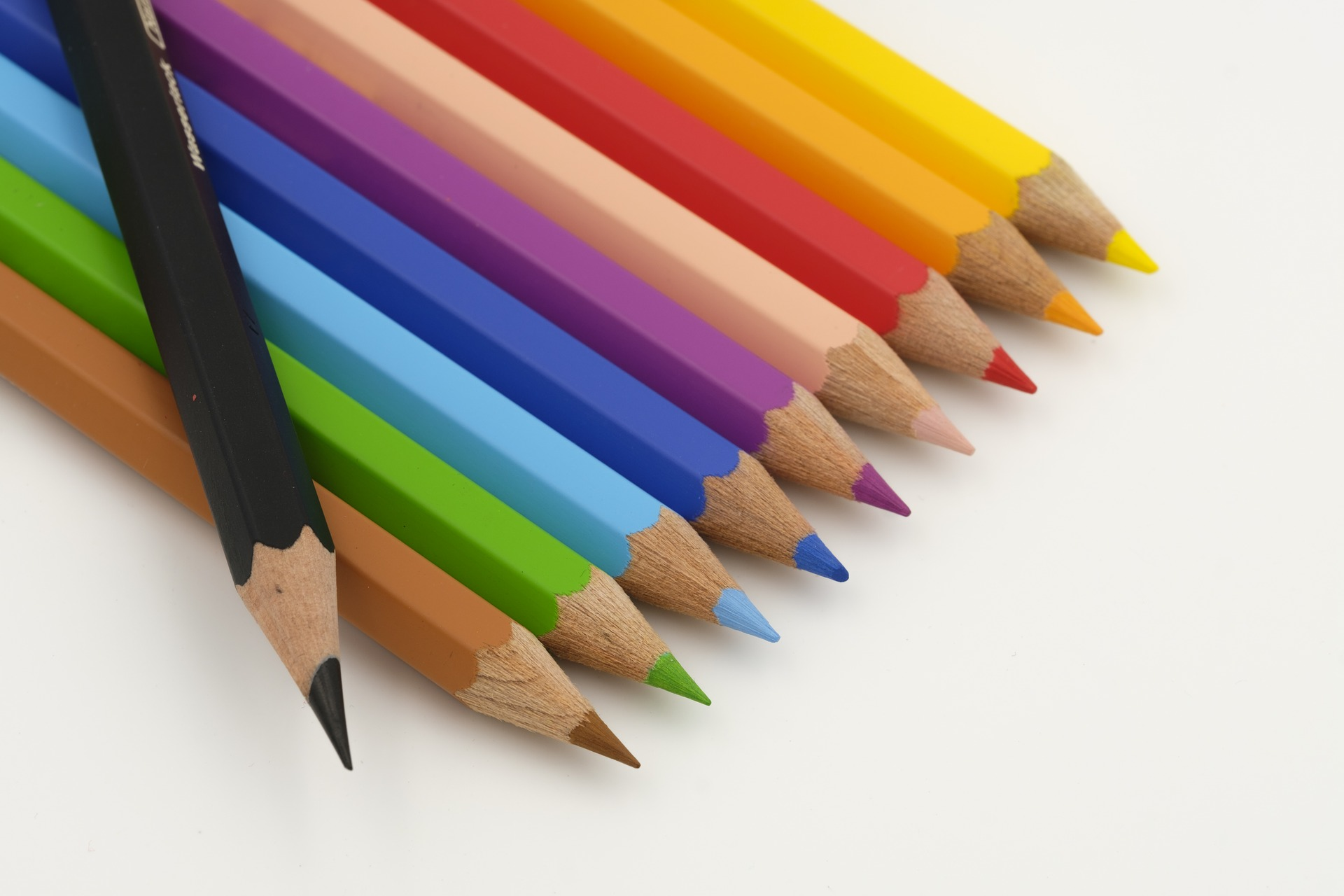 Colouring crayons - Website colours